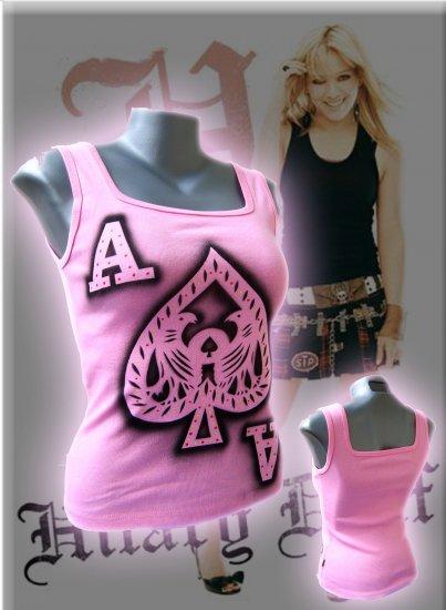 Ace of Spades 'Take a Gamble' Tank Top Pink