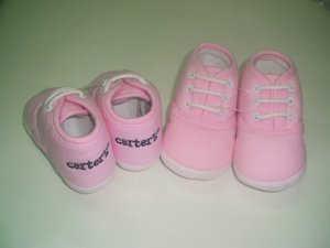 Carters Baby Pink Shoes - Size 3