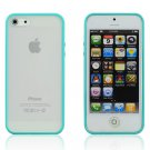 Sky Blue Bumper Transparent Back Soft Skin Case Cover For Apple iPhone 5 4G LTE