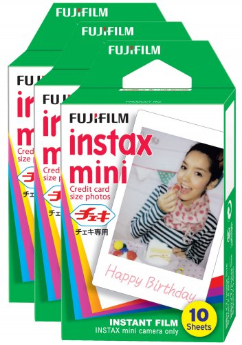 3 Packs FujiFilm Fuji Instax Mini Film, 30 Instant Photos Polaroid 7S 8 25 50S 70 X122