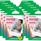 10 Packs FujiFilm Fuji Instax Mini Film, 100 Instant Photos Polaroid 7S 8 25 50S 70 X122