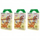 3 Packs Garfield FujiFilm Fuji Instax Mini Film, 30 Instant Photos Polaroid 7S 8 25 50S 70 X131
