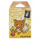 1 Pack Rilakkuma meets Honey FujiFilm Instax Mini Film, 10 Photos Polaroid 7S 8 25 50S 70 X133