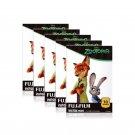 5 Packs Disney ZOOTOPIA FujiFilm Fuji Instax Mini Film, 50 Photos Polaroid 7S 8 25 50S 70 X344