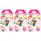 3 Packs Candy Pop FujiFilm Fuji Instax Mini Film, 30 Instant Photos Polaroid 7S 8 25 50S 70 X140