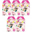 5 Packs Candy Pop FujiFilm Fuji Instax Mini Film, 50 Instant Photos Polaroid 7S 8 25 50S 70 X140