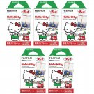 5 Packs Hello Kitty FujiFilm Fuji Instax Mini Film, 50 Photos Polaroid 7S 8 25 70 X148