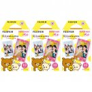 3 Packs Rilakkuma FujiFilm Fuji Instax Mini Film, 30 Photos Polaroid 7S 8 25 70 X232