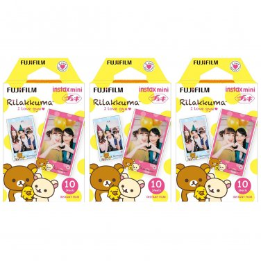 3 Packs Rilakkuma FujiFilm Fuji Instax Mini Film, 30 Photos Polaroid 7S 8 25 70 X232
