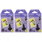 3 Packs Disney Alice in Wonderland FujiFilm Fuji Instax Mini Film, 30 Photos Polaroid 7S 8 70 X234