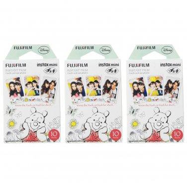 3 Packs Winnie The Pooh FujiFilm Fuji Instax Mini Film, 30 Photos Polaroid 7S 8 70 X235