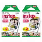 2 Packs FujiFilm Fuji Instax Mini Film, 40 Instant Photos Polaroid 7S 8 25 50S 70 X122