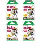 4 Packs FujiFilm Fuji Instax Mini Film, 80 Instant Photos Polaroid 7S 8 25 50S 70 X122