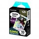 1 Pack Comic FujiFilm Fuji Instax Mini Film, 10 Photos Polaroid 7S 8 25 70 X237