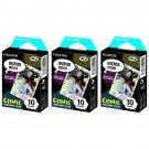 3 Packs Comic FujiFilm Fuji Instax Mini Film, 30 Photos Polaroid 7S 8 70 X237
