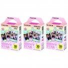 3 Packs Shiny Star FujiFilm Fuji Instax Mini Film, 30 Photos Polaroid 7S 8 70 X238