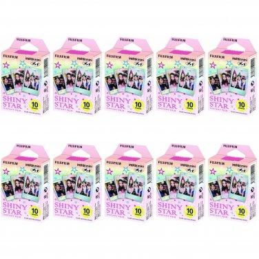 10 Packs Shiny Star FujiFilm Fuji Instax Mini Film, 100 Photos Polaroid 7S 8 70 X238