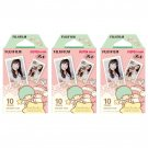 3 Packs Sanrio Little Twin Stars FujiFilm Fuji Instax Mini Film, 30 Photos Polaroid 7S 8 70 X240