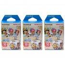 3 Packs One Piece FujiFilm Fuji Instax Mini Film, 30 Photos Polaroid 7S 8 70 X253