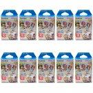 10 Packs One Piece FujiFilm Fuji Instax Mini Film, 100 Photos Polaroid 7S 8 70 X253