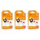 3 Packs Winnie The Pooh Orange FujiFilm Fuji Instax Mini Film, 30 Photos Polaroid 7S 8 70 X265