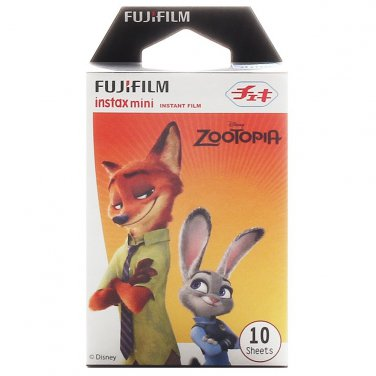 1 Pack Disney ZOOTOPIA (2nd Edition) FujiFilm Fuji Instax Mini Film, 10 Polaroid 7S 8 25 50S 70 X348