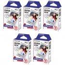5 Packs Airmail FujiFilm Fuji Instax Mini Film, 50 Photos Polaroid 7S 8 70 X282