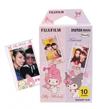 1 Pack My Melody and Kuromi FujiFilm Fuji Instax Mini Film, 10 Photos Polaroid 7S 8 25 70 X291