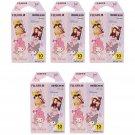 5 Packs My Melody and Kuromi FujiFilm Fuji Instax Mini Film, 50 Photos Polaroid 7S 8 70 X291
