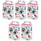 5 Packs Sanrio Hello Kitty 2016 FujiFilm Fuji Instax Mini Film, 50 Photos Polaroid 7S 8 70 X349