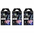 3 Packs Star Wars FujiFilm Fuji Instax Mini Film, 30 Photos Polaroid 7S 8 25 50S 70 X338