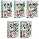 5 Packs Chibi Maruko Chan 2015 FujiFilm Fuji Instax Mini Film, 50 Photos Polaroid 7S 8 25 70 X319
