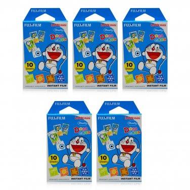 5 Packs Doraemon Four Seasons FujiFilm Fuji Instax Mini Film, 50 Photos Polaroid 7S 8 25 70 X343