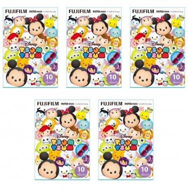 5 Packs Tsum Tsum 2016 FujiFilm Fuji Instax Mini Film, 50 Photos Polaroid 7S 8 25 70 X350