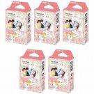 5 Packs Sanrio My Melody 2015 FujiFilm Instax Mini Film, 50 Photos Polaroid 7S 8 25 70 X339