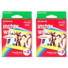2 Packs 40 Rainbow Instant Photos Fuji FujiFilm Instax Wide Film Polaroid Camera 200 210 X353