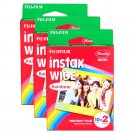 3 Packs 60 Rainbow Instant Photos Fuji FujiFilm Instax Wide Film Polaroid Camera 200 210 X353