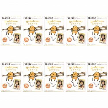 10 Packs Sanrio Gudetama Egg FujiFilm Instax Mini,100 Photos Polaroid 7S 8 25 50S 70 X351