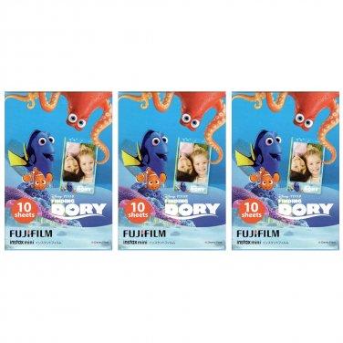 3 Packs Disney Pixar Finding Dory FujiFilm Instax Mini, 30 Photos Polaroid 7S 8 25 70 X355