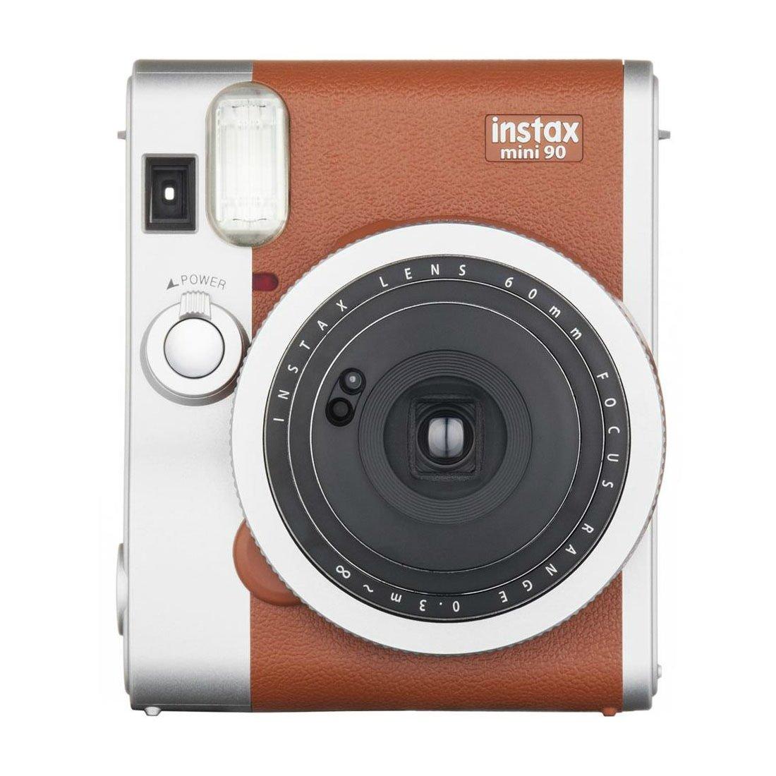 Brown Colour FujiFilm Fuji Instax Mini 90 NEO CLASSIC Instant Photos Films Polaroid Camera
