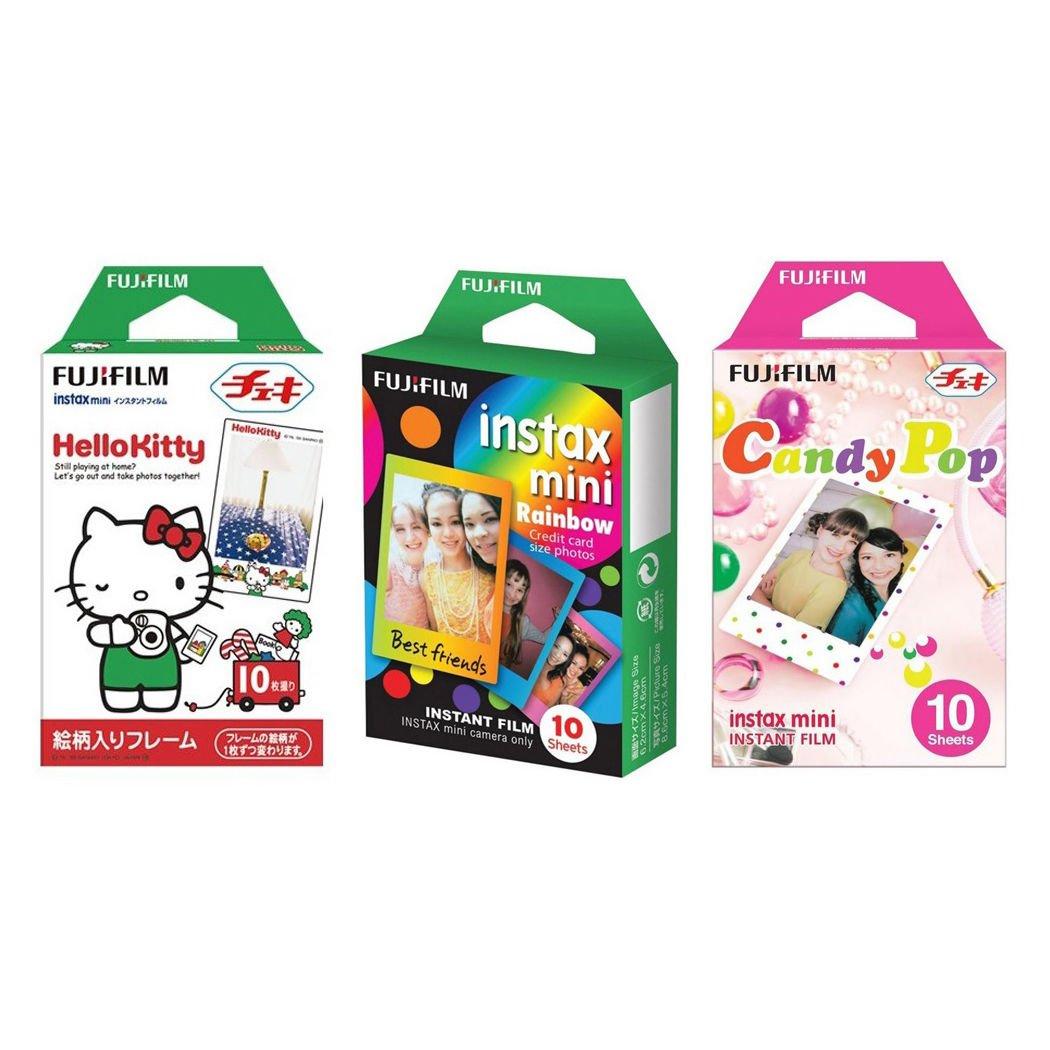 Hello Kitty & Rainbow & Candy Pop FujiFilm Instax Mini, 30 Photos Polaroid 7S 8 25 70 90