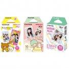 Rilakkuma & Little Twin Stars & Stripe FujiFilm Instax Mini, 30 Photos Polaroid 7S 8 25 70 90