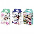 Stripe & Airmail & Stained Glass FujiFilm Instax Mini, 30 Photos Polaroid 7S 8 25 70 90