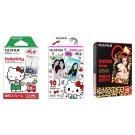 Hello Kitty Value Set FujiFilm Instax Mini Instant Film 30 Photos Polaroid 7S 8 25 70 90