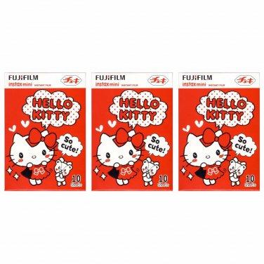 3 Packs Hello Kitty So cute! FujiFilm Instax Mini, 30 Photos Polaroid 7S 8 25 50S 70 X354