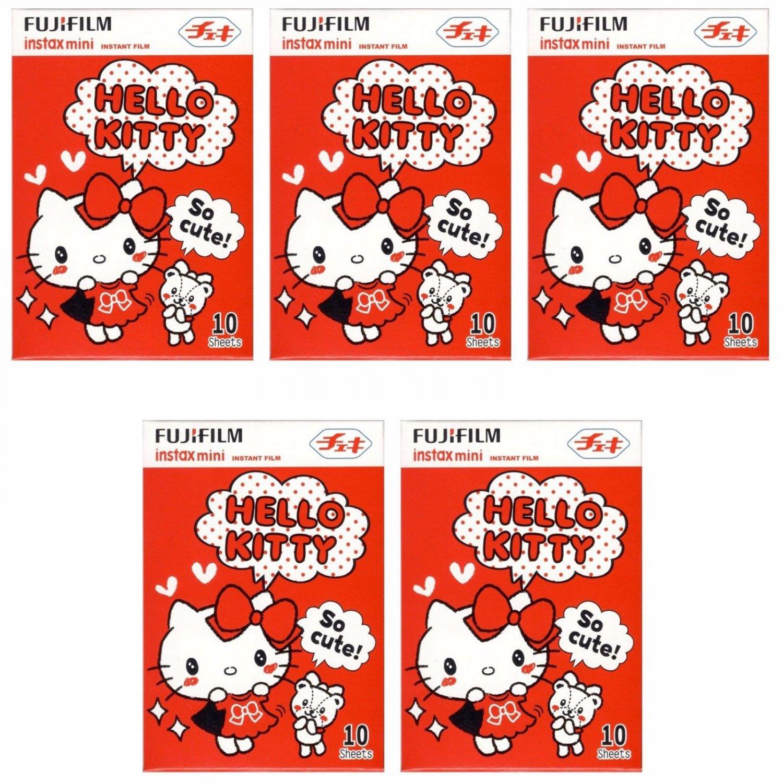 5 Packs Hello Kitty So cute! FujiFilm Instax Mini, 50 Photos Polaroid 7S 8 25 50S 70 X354