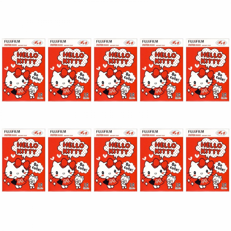 10 Packs Hello Kitty So cute! FujiFilm Instax Mini, 100 Photos Polaroid 7S 8 25 50S 70 X354