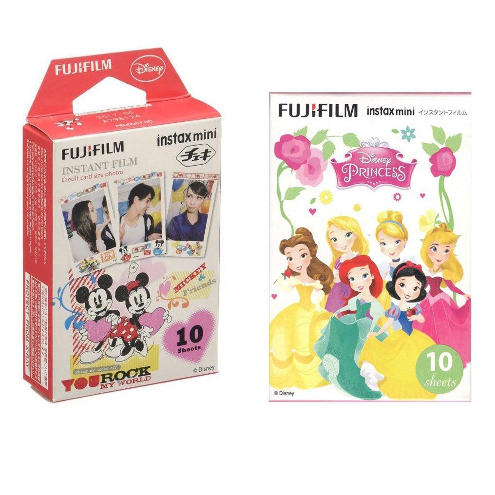 Disney Princess & Mickey FujiFilm Instax Mini 20 Instant Camera Photos Polaroid 7S 8 25 70 90