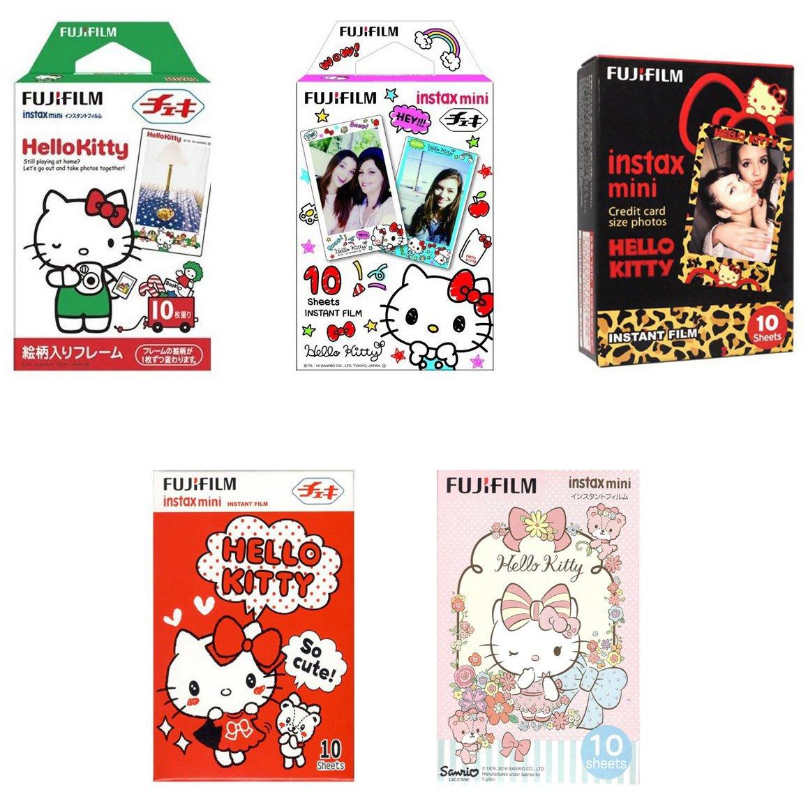 Hello Kitty Value Set FujiFilm Instax Mini 50 Instant Camera Photos Polaroid 7S 8 25 70 90