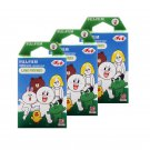 3 Packs Green Line Friends FujiFilm Fuji Instax Mini Film, 30 Photos Polaroid 7S 8 25 50S 70 X322